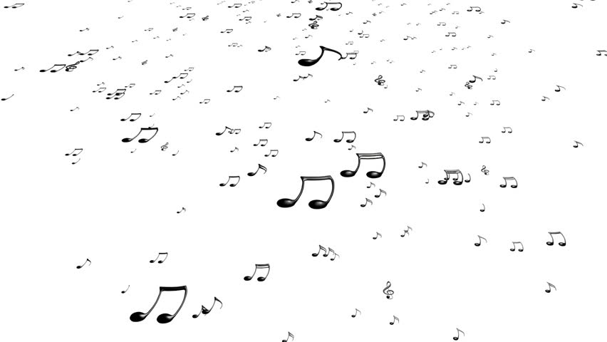 Animated falling white 3d music notes in 4k transparent animated flying black music notes on white background upward each music note is voltagebd Images