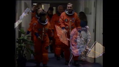 CIRCA 1990s - John Glenn returns to space on the Space Shuttle in 1998.