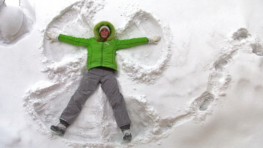 Snow Angel - playing in snow
