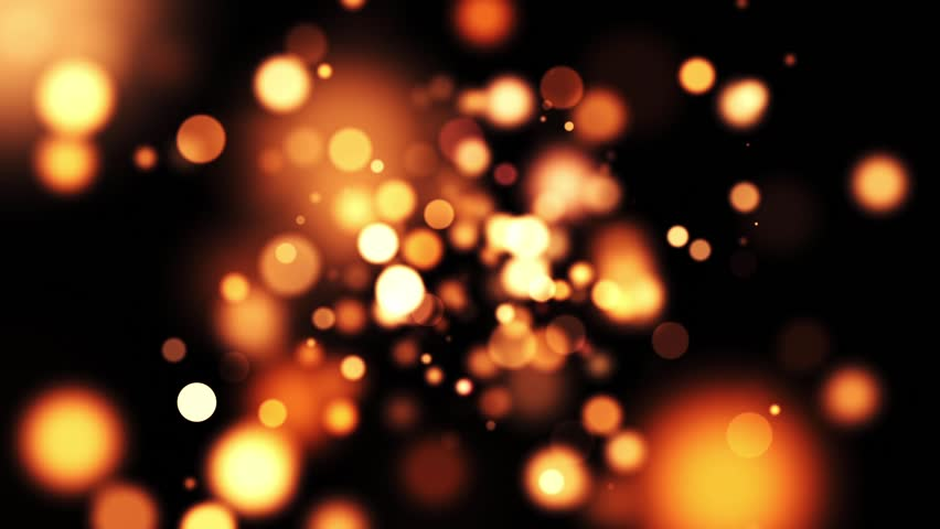 Particle on black and gold Background Loop-able #9196988