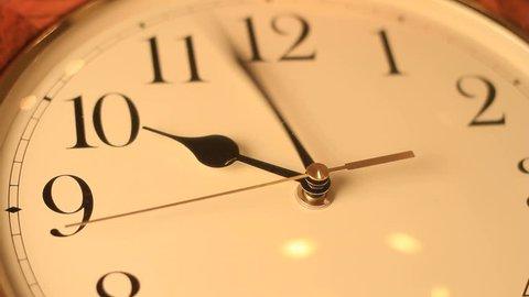 analog clock spinning