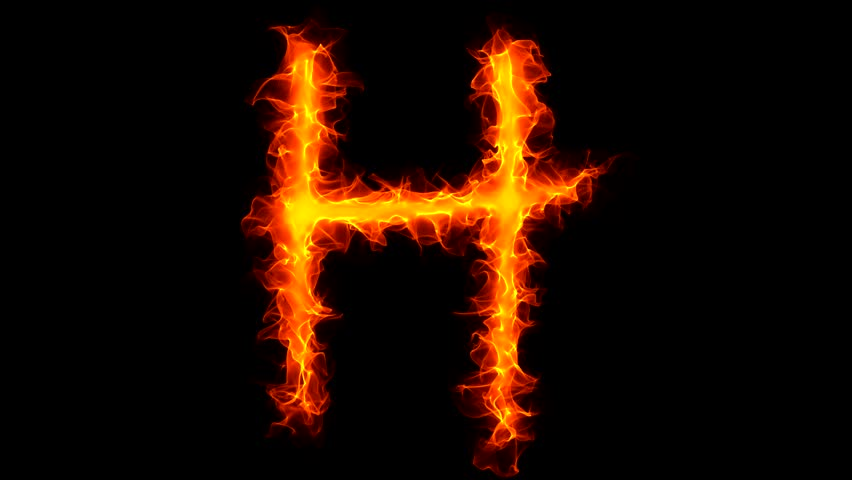 H Letter In Fire Hd Letter M On Fire Stock...