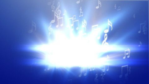 Abstract music on blue background