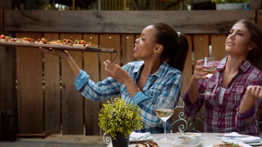 Eating ethnic lesbian