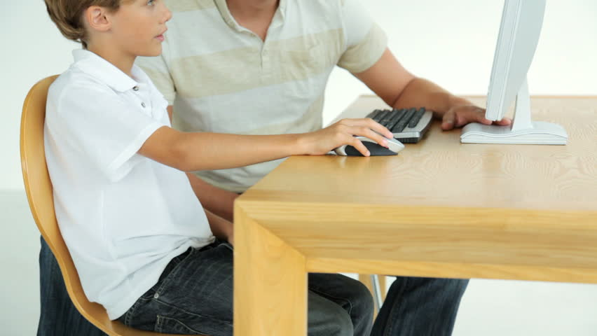 Father and Son on the Computer
