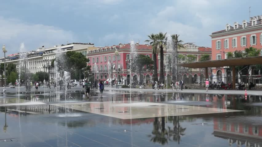 Nice france june 4 2014 lovely fountain on place massena in city of nice france place - Place massena nice ...