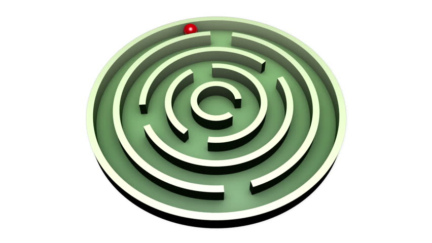 Red ball into the center of the green maze. Alpha channel is included.