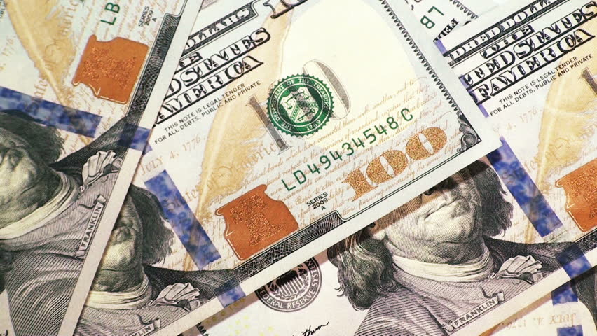 Falling dollar bills and coins on white background | Shutterstock HD Video #9355508