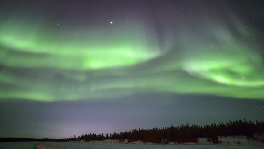 4K Timelapse footage - Northern lights on the polar sky | Shutterstock HD Video #9375218