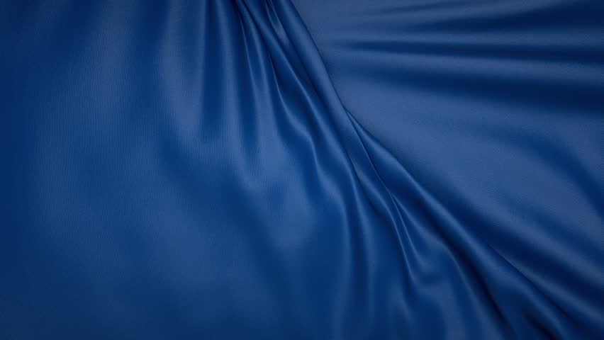 Blue Textile Cloth Disappearing Wedding Stock Footage