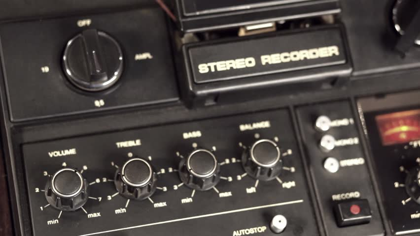 vintage reel to reel tape recorder - travel 1080p - HD stock footage clip