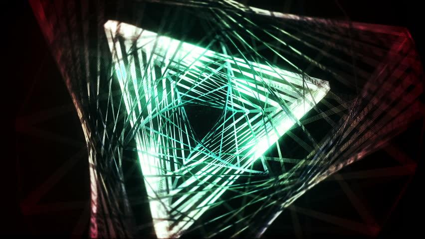 4k Disco Hypnotic Light Centerd Vj Loop Disco Effect: Textured Fractal Triangle 2. Mir, Background, Texture