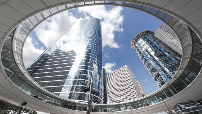 Houston - CIRCA DECEMBER 2013: Skyscrapers, low angle