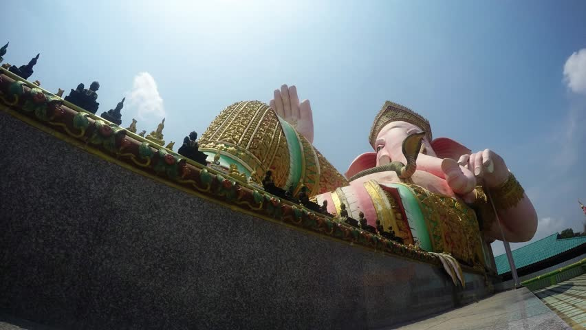 THE GREATEST PINK PIKANET / GANESHA RECLINE SITTING - HAPPINESS POSTURE IN THAILAND (Cloud Lapse)