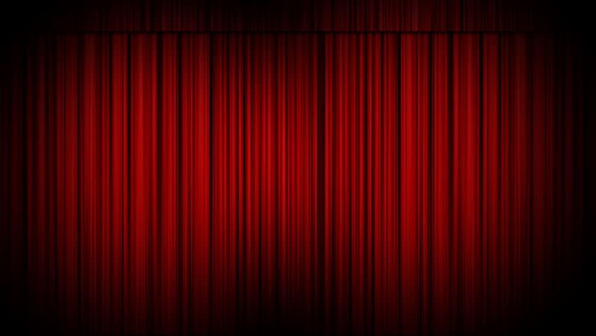 Nice Cinema Curtains Opening Revealing An Empty Canvas. Matte Included To Add  Your Own Footage Behind
