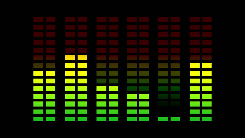 animation of music graphic equalizers