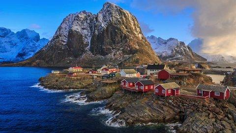 fishing village of reine in the lofoten islands norway