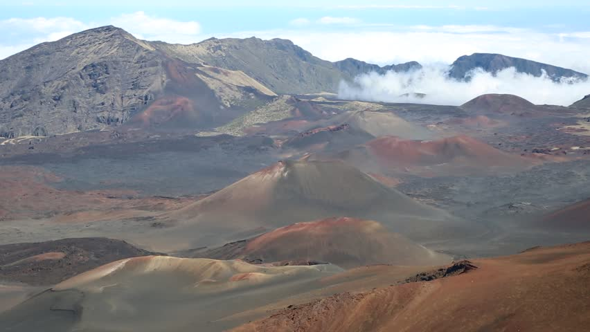 Volcanic cones in haleakala national park maui hawaii stock clouds moving into haleakala national park maui hawaii hd stock video clip publicscrutiny Image collections