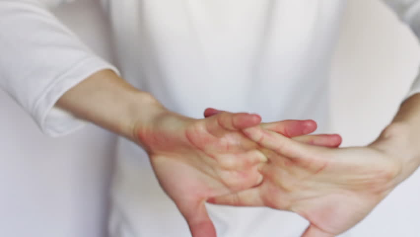 Gestures and signs, OK, all right, fack you, applause, fist, sign module, fool, heavy metal, a sign of peace to all, praying, hands on his chest, the sign ban, happy, cool, heart, love, rock.   Shutterstock HD Video #9656348
