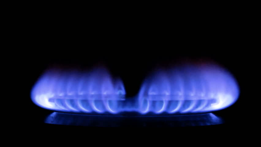 Gas-stove on the black background