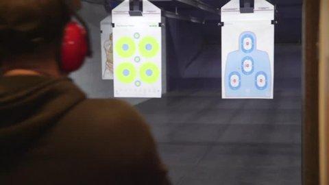 Shooting at Gun Range