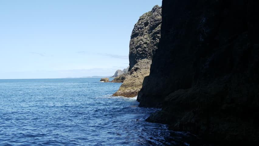 inside The Hole in the Rock at Percy Island/Motuk?kako Bay of Islands, New Zealand