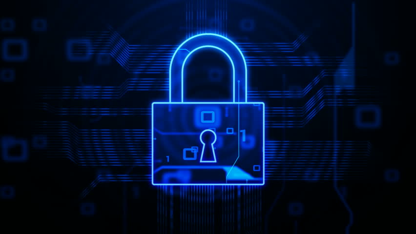 data security conceptual background stock footage video
