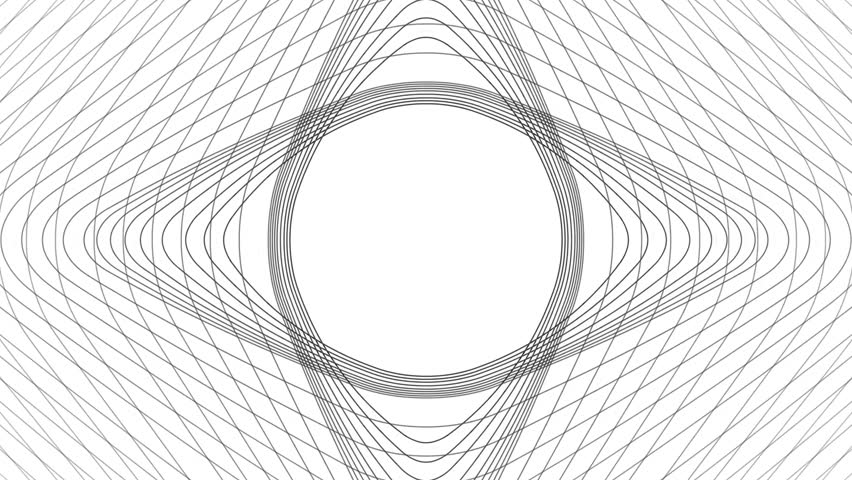 Slow flowing black and white particle vector abstract background Computer Designed Animation - uhd ultra hd 4k 4096 quad. Start animation circle center transform to Rectangular with rounded corners