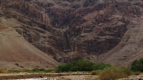 This is a Flash Flood that took place in May, 2011 in Qumran, Israel. Flash floods in this area are extremely rare since it gets less than 5 inches of rain per year. The water enters 7 Cisterns.