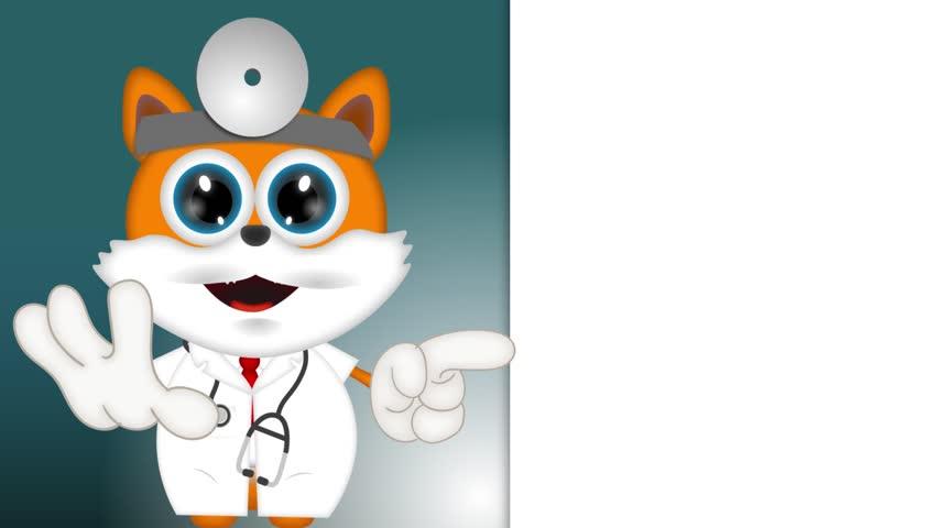 Marvin Cat Pet Veterinarian Cartoon Animal funny   Shutterstock HD Video #9710336