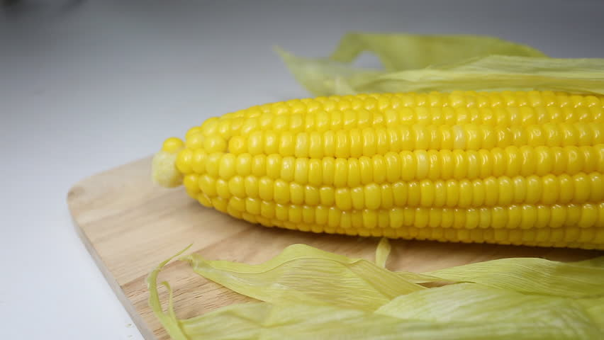 Boiled corn cob with butter stock footage video 2624321 shutterstock sweet corn hd stock video clip ccuart Choice Image