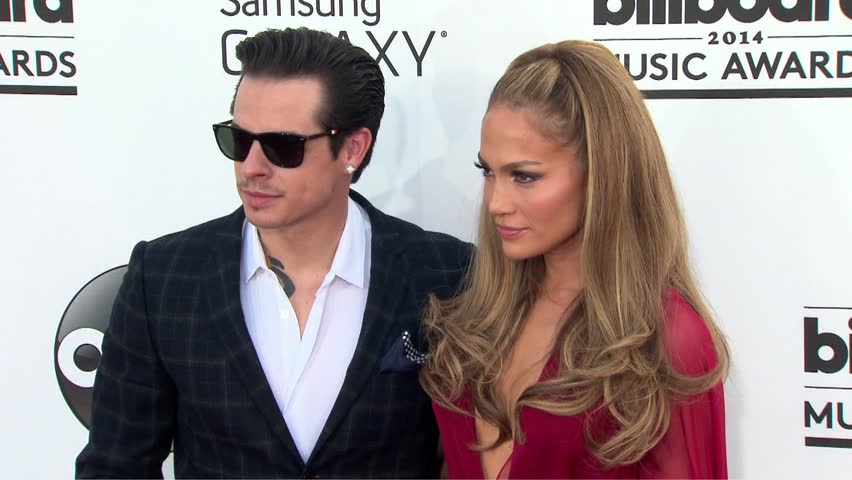 Las Vegas, CA - May 18,2014: Jennifer Lopez and Casper Smart at Billboard Music Awards 2014, MGM Grand Garden Arena