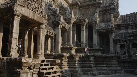 Central tower of Angkor Wat temple of Cambodia