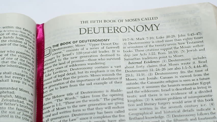 a literary and religious analysis of the book of deuteronomy