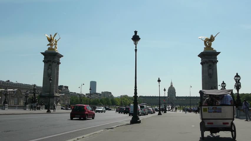 On Pont Alexandre III at Paris, France | Shutterstock HD Video #9818828
