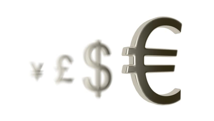 Pound Currency With Different Signs Euro Dollar Pound Yen Stock