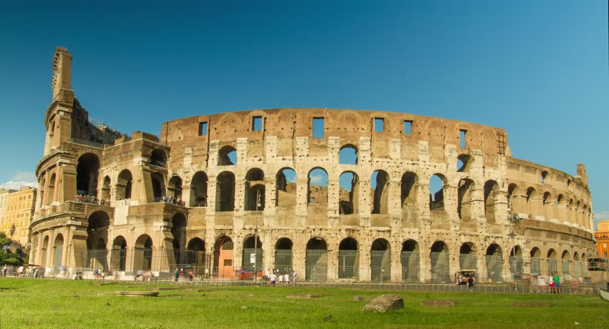 Ancient Roman Colosseum In Rome Italy Stock Footage Video
