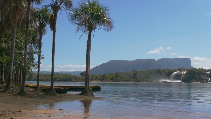 Canaima National Park Lagoon and waterfalls, Gran Sabana, Bolivar State, Venezuela | Shutterstock HD Video #9949025
